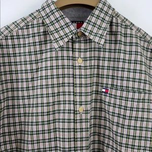Tommy Hilfiger Boy Shirt Youth Plaid Short Sleeves